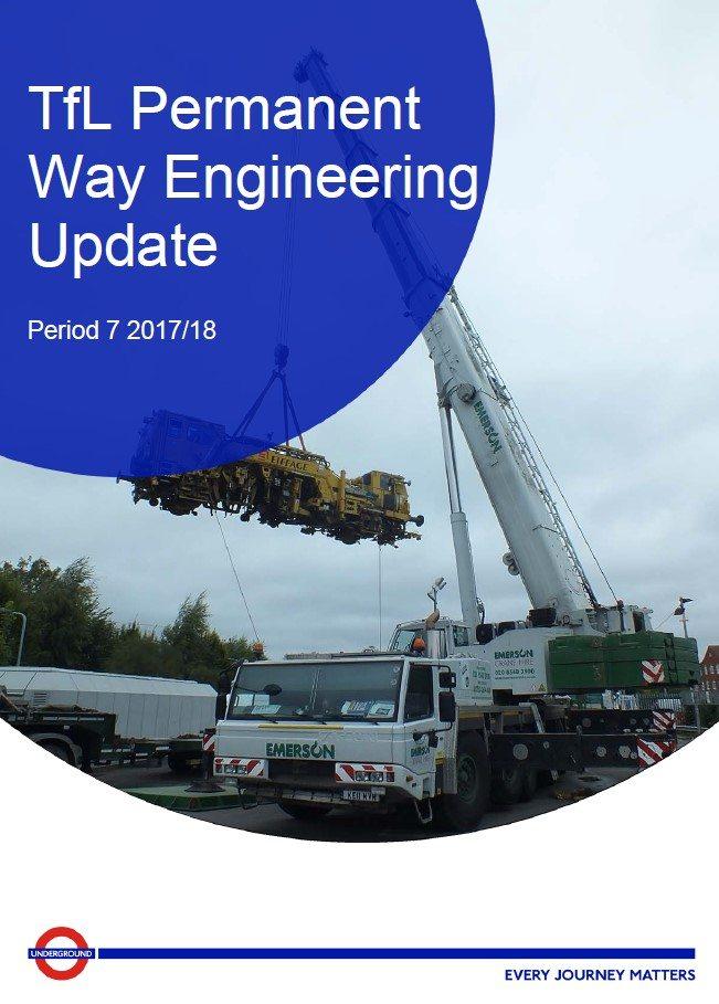 TfL permanent way engineering update