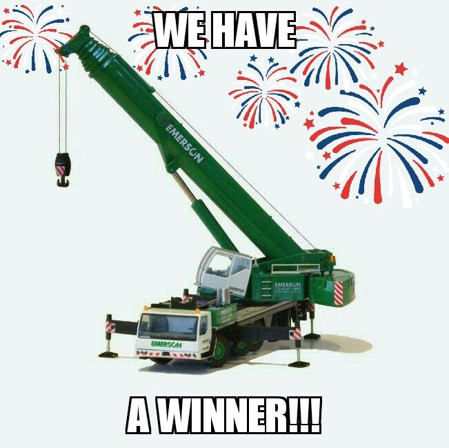 crane comp winner